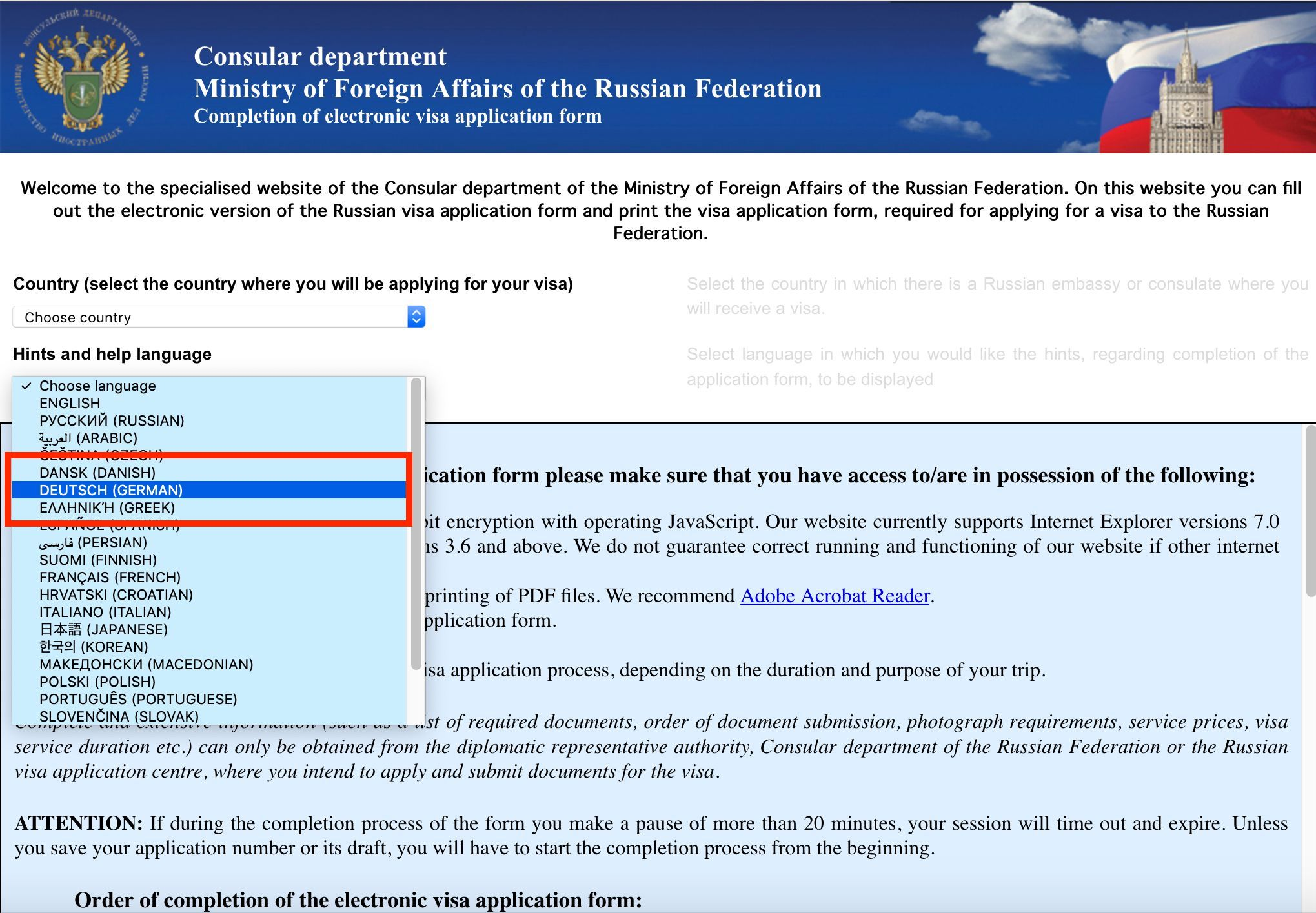 Wie erhalte ich ein Visum für Russland?